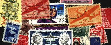 Image of collage of air mail stamps